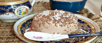 Творожный десерт с желатином и какао. Без выпечки - быстро и вкусно!